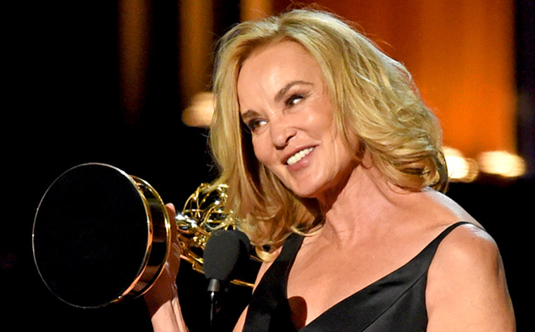 Jessica Lange winning Lead Actress in a Miniseries or Movie for her performance in American Horror Story: Coven